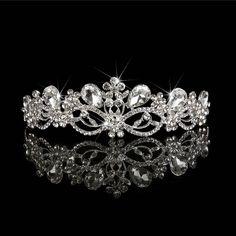 Gelin tac? Wedding Hairwear Jewelry Tiara Bride Wedding Rhinestone Hair Accessories Crystal Hair Ornaments Diadem Hair Flowers Queen Crown * Bu bagli bir çam AliExpress oldugunu.  AliExpress web sitesinde daha fazla bilgi icin ZIYARET dugmesine tiklayin.