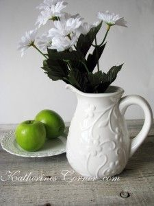 white pitcher from the blog hop, join us!