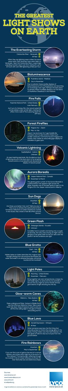 The world is a pretty crazy place, with so many weird and wonderful phenomenon happening all around us we tend to take most of it for granted. Here's some of the best shows of natural lighting from around the world