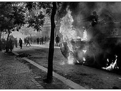 PRAGUE INVASION, 1968 - Much of the resistance was centered around the Prague radio station. As the day progressed, Czechoslovak youths threw home-made missiles and even tried to take on Soviet tanks. ~ (Photo by Josef Koudelka. Prague Spring, Art Et Nature, Great Society, Visit Prague, Guernica, Bad Picture, Lest We Forget, Old Paintings, We Are The World