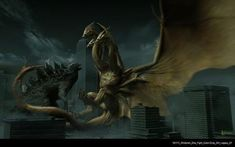 'Godzilla: King Of The Monsters' Production Designer Teases Redesigns, Mothra's Heralds, And Godzilla Vs Gigan, Godzilla Vs King Ghidorah, Godzilla Toys, Star Trek Reboot, Legendary Pictures, Shadow Dragon, Skull Island, We Movie, Monster Art