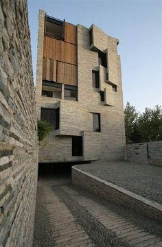 Stylish apartments built from stonecutting towns wasted material