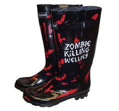 Anyone in Glasgow or Liverpool joining in the '2.8 hours later' event? If you are you'll be in need of some zombie defeating clobber! Well you're in luck!     Here at pulp we have an awesome selection of zombie themed clothing and accessories! These wellies are just £10 so head down to store fast while stocks last …and good luck surviving the zombie apocalypse!    For all details on how to take part in the event visit 2.8hourslater.com (this is an 18+ event)
