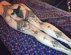 Henna Tattoo garter Consulta esta foto de Instagram de @ginkas_arts • 2,318 Me gusta