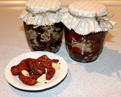 susena rajcata v oleji / Mery13 Muffin, Pudding, Jar, Canning, Vegetables, Breakfast, Desserts, Food, Spreads