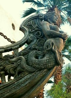 Mermaid ships bow.