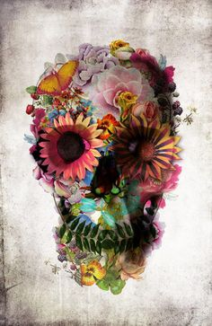 Day of the dead skull. I am obsessed with these! #dayoftheday #skulls