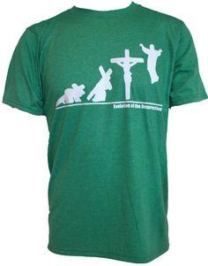 18704e17c Evolution of Resurrection Christian T-Shirt -  17