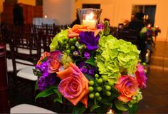 Purple burnt orange wedding by Chloe Cook Events