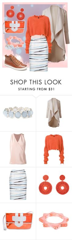 """""""#2 orange"""" by anisdis ❤ liked on Polyvore featuring Peter Cohen, Unravel, BOSS Hugo Boss, Kenneth Jay Lane, Tila March, Anna Lou of London and Cobb Hill"""