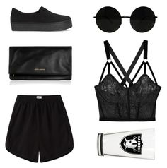 """""""Untitled #3598"""" by michelanna ❤ liked on Polyvore featuring Lonely, Base Range, Yves Saint Laurent and Opening Ceremony"""