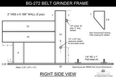 "DIY plan to make a four wheel 2 x 72"" belt grinder. The frame is from HSS material. You can modify it however you like."