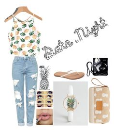"""Date Night"" by madmaddie-16 on Polyvore featuring Topshop, LC Lauren Conrad, Younique, ASOS, MANGO and Polaroid"
