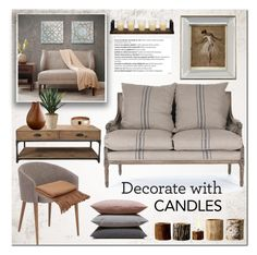 """""""Decorate with candles"""" by bogira ❤ liked on Polyvore featuring interior, interiors, interior design, home, home decor, interior decorating, Murphy, Dot & Bo, Madison Park and John-Richard"""