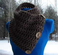 The Saranac Coconut Button Cowl Scarf - Taupe. My sister will have to knit one for me ! :)