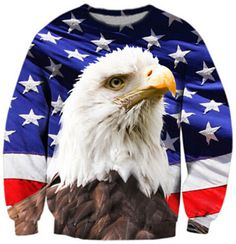 >> Click to Buy << Newest style USA Eagle Sweatshirt Crewneck Women Men Loose 3d Hoodies Pullovers print flag Sweatshirts Outerwear winter coat #Affiliate