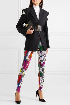 9d7c20f03aa1b0 Versace - Printed stretch-jersey leggings