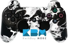 White Inferno PS3 Controller - KwikBoy Modz #customcontroller #whiteflames #moddedcontroller #ps3 #ps3controller #firecontroller