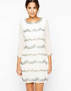 Lipsy Embellished Shift Dress... Summer wedding outfit idea