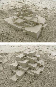 Geometric Sand Castles by Calvin Seibert | Inspiration Grid | Design Inspiration