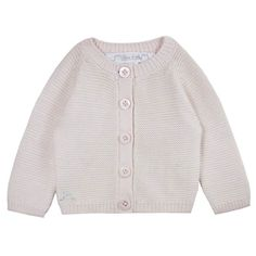 Our Boo Cardigan in a similar style to the one worn by Princess Charlotte. What a sweet soft pink.