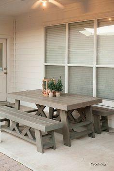 MyBellaBug : DIY Patio Table & Benches
