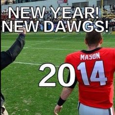 hutson mason!  Can't wait for 2014 season!! Go dawgs!  Sic 'em!!!