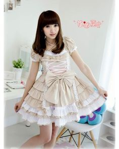 Sweet Cakes Bow Belts Lolita OP 2 Colors $49.99-Cotton Lolita Dresses - My Lolita Dress