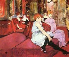 Artists and Prostitutes.Henri de Toulouse-Lautrec . bordel