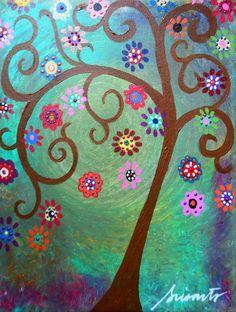 Original Oil painting - tree of life