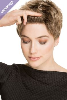 Try a short style without cutting off all your hair. No one can tell it's a wig. Check out that natural hairline!