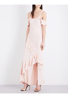 TOPSHOP - Cold-shoulder satin dress | Selfridges.com