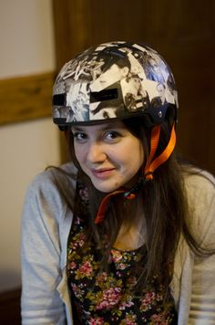 This is about to go down today! Diy embellished bike helmet.