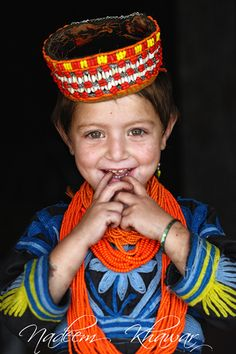 The Kalash are indigenous people of the Hindu Kush mountain range, residing in the Chitral district of the North-West Frontier Province of Pakistan.    Some in the academic community have speculated that the Kalash might be from ancient Middle Eastern populations, an indigenous population from South Asia, or members of Alexander the Great's army. Though often overstated, instances of blond hair or light eyes are not uncommon.