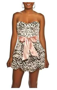 Animal Print Dress sccheerbabe09