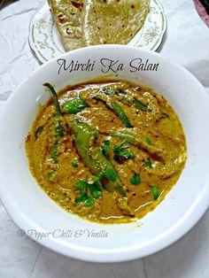 Hyderabadi Mirchi ka Salan/How to make Mirchi ka Salan Indian Veg Recipes, Paneer Recipes, Curry Recipes, Asian Recipes, Vegetarian Recipes, Cooking Recipes, Eid Recipes, Veg Recipes Of India, Andhra Recipes