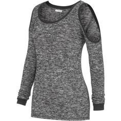 maurices Pullover With Cold Shoulders ($16) ❤ liked on Polyvore featuring tops, sweaters, long sleeves, shirts, grey, gray long sleeve shirt, cold shoulder shirt, long sleeve tops, pullover sweater e layered sweater