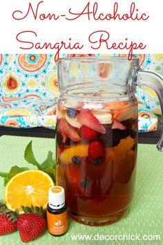Non Alcoholic Sangria Recipe | www.decorchick.com