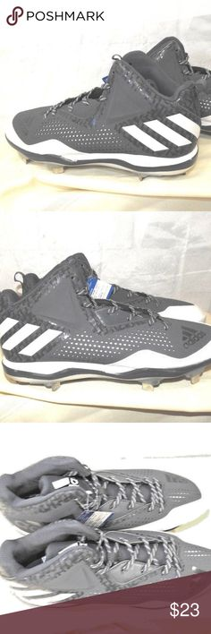 online retailer fef5c 4e34c Mens Size 13.5 Ortholite Baseball Cleats Gray ADIDAS Mens Size 13.5  Ortholite Baseball Cleats Gray