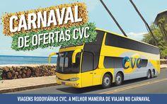 Esquentando os tamborins! A RumoNet Viagens em parceria com a CVC ainda está confirmando muitas opções de pacotes rodoviários para você aproveitar o seu Carnaval, seja para descansar ou curtir à valer. Emoticon wink Ligue agora (11) 2861-0295 ou vendas@rumonet.com.br