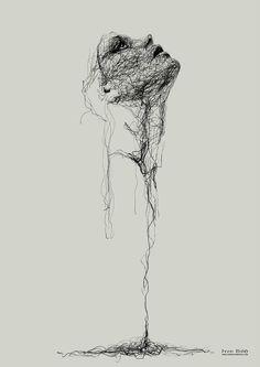 Untitled by Gor Gyurjyan – A Level Art Sketchbook - Water Dark Art Drawings, Pencil Art Drawings, Art Drawings Sketches, Inspiration Art, Art Inspo, Stylo Art, L'art Du Portrait, Scribble Art, Arte Obscura
