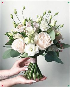 Lots of brides might know the wedding flower they want in their own bouquet, however are a little mystified about the remainder of the wedding event flowers required to submit the ceremony and reception. White Wedding Bouquets, Bride Bouquets, Flower Bouquet Wedding, Floral Bouquets, Bridesmaid Bouquet, Floral Wedding, Greenery Bouquets, Bouquet Flowers, Lisianthus Wedding Bouquet