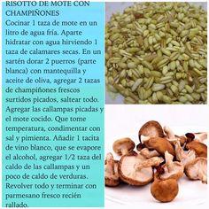 Risotto de Mote con champiñones en #RutaOasis @OasisFMChile Fresco, Risotto, No Salt Recipes, Lentils, Almond, Beans, Vegetables, Food, Twitter