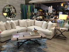 The clean cream color of this stunning sectional will add a level of comfort and style : colored sectionals - Sectionals, Sofas & Couches