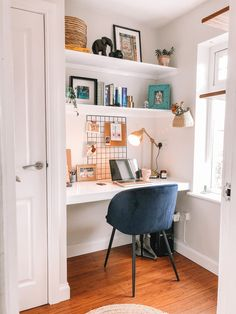 our home office – The Full Shilling Blue Home Offices, Home Office Space, Home Office Design, Home Office Decor, House Design, Home Decor, Photos Folles, Interior Styling, Interior Design
