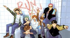BTS fanart Run