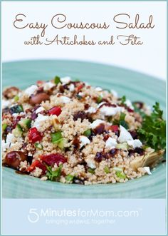 Fast and Easy Couscous Salad with Artichokes and Feta