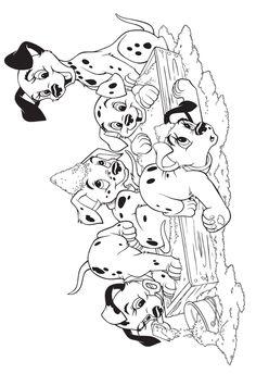 101 Dalmatians coloring picture | Dalmatians | Pinterest | 101 ...