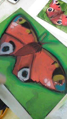 Motýl -suchá křída ,děti 7-10 let https://plus.google.com/115137960111723385405