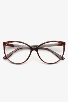 Alvina Thin Cat Eye Clear Glasses - Tortoise - 1166-1